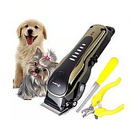 Профессиональная машинка для стрижки собак и котов Gemei GM 6063 / Машинка для груминга / Триммер