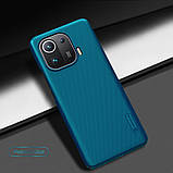 Защитный чехол Nillkin для Xiaomi Mi 11 Pro Super Frosted Shield Blue Синий, фото 6