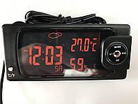 Мини бортовой компьютер. Часы, термометр, гигрометр, календарь 12-24 вольт. Цвет подсветки синий и красный.