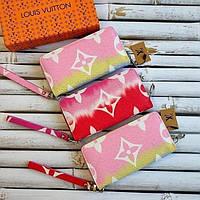 Кошелек Луи Яркий Разноцветный Кошелек на молнии в брендовой упаковке 20*10 см