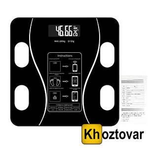 Умные цифровые весы Bathroom Scale Bluetooth