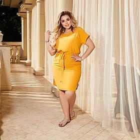 Летнее легкое платье большого размера Батал, Прогулочное летнее платье Большого размера