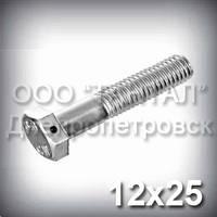 Болт М12х25 DIN 962 SK контровочный с отверстием в головке прочность 10.9 оцинкованный