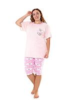 Пижама женская комплект-двойка (бриджи + футболка) ASMA 10179 Батал