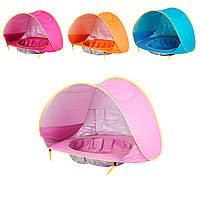 Игровая палатка для ребенка с бассейном 117х79см, Розовая палатка детская и детский бассейн (TI)