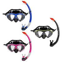 Набор для плавания маска и трубка Dolvor разные цвета