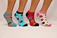 Женские носки короткие с хлопка Кардешлер 36-40  пончики