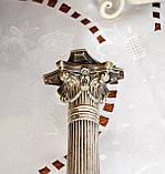 Посріблений камінний свічник у стилі ампір, сріблення по латуні, вінтаж, Англія, H. R.& Co, фото 4