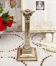 Посеребренный каминный подсвечник в стиле ампир, серебрение по латуни, винтаж, Англия, H.R.& Co