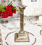 Посріблений камінний свічник у стилі ампір, сріблення по латуні, вінтаж, Англія, H. R.& Co, фото 2