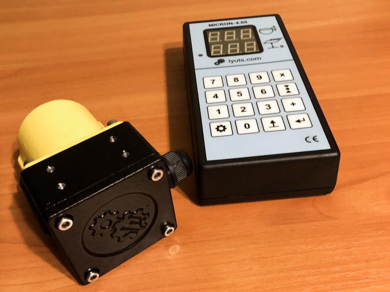 """Електронна лінійка на пилораму """"Micron-4.05"""" + PRT-300 датчик"""
