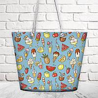 Пляжная сумка Malibu Сладости лета оригинальный подарок на день рождения