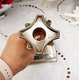 Посріблений камінний свічник у стилі ампір, сріблення по латуні, вінтаж, Англія, H. R.& Co, фото 7