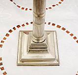 Посріблений камінний свічник у стилі ампір, сріблення по латуні, вінтаж, Англія, H. R.& Co, фото 6