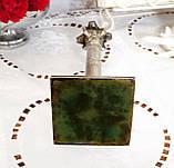 Посріблений камінний свічник у стилі ампір, сріблення по латуні, вінтаж, Англія, H. R.& Co, фото 5