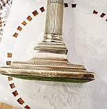 Посріблений камінний свічник у стилі ампір, сріблення по латуні, вінтаж, Англія, H. R.& Co, фото 8