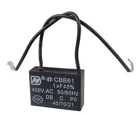 Конденсатор CBB61 1uF 400VAC гибкие выводы