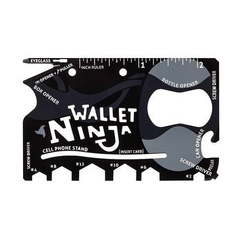 Кишеньковий інструмент виживання, мультитул кредитка 18 в 1, Wallet Ninja 2005-00876