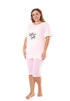 Пижама женская комплект-двойка (бриджи + футболка) ASMA 10181 Батал