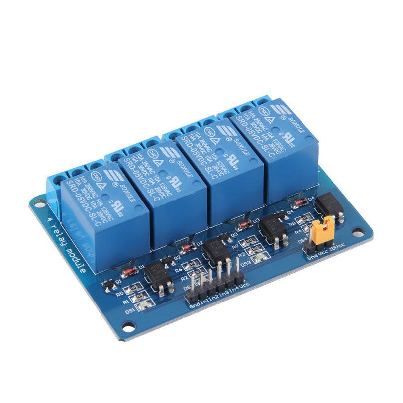 Модуль реле 4х-канальний для Arduino 5V 4-Channel Relay з опторазвязкой