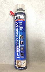 Напыляемая полиуретановая теплоизоляция профессиональная THERMOSPRAY Tytan GUN, 870мл