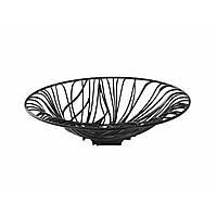 Фруктовница-конфетница Casa Bugatti 21-FLORANU/VE ,цвет черный