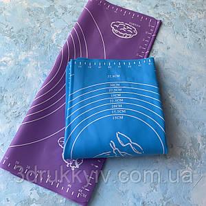 Силіконовий коврик для тіста 40х50 см / Силиконовый коврик для теста