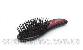 Масажна щітка для волосся Dagg 8580 міні червоний