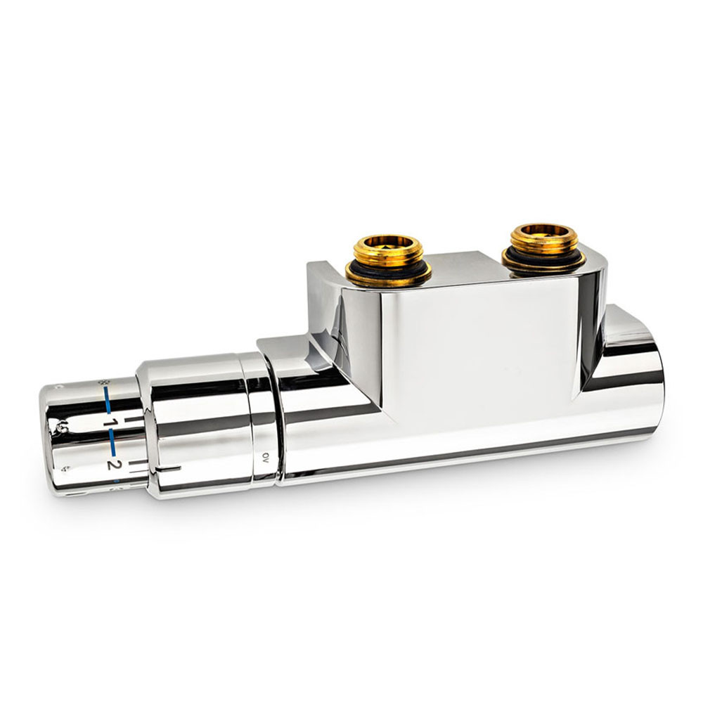 Термостатический комплект Oventrop Multiblock T/Uni SH хром для нижнего подключения