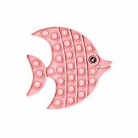 Антистресс - игрушка Pop It Розовая рыбка Поп Ит