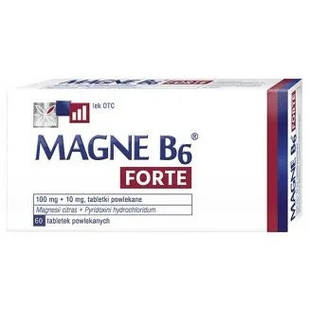 Sanofi, Magne B6 Forte магния цитрат 100 mg + витамин B6  10 mg, 60 таблеток