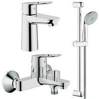 Набір змішувачів для ванни Grohe BauLoop S-Size (123214S)