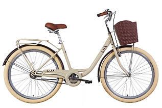 """Велосипед міський жіночий 26"""" Dorozhnik Lux 2021 рама 17"""" бежевий"""