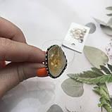 Цитрин 17,7 розмір кільце з цитрином кільце з каменем жовтий цитрин в сріблі Індія, фото 4