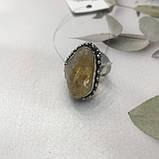 Цитрин 17,7 розмір кільце з цитрином кільце з каменем жовтий цитрин в сріблі Індія, фото 5