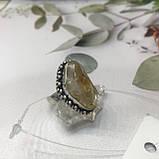 Цитрин 17,7 розмір кільце з цитрином кільце з каменем жовтий цитрин в сріблі Індія, фото 3