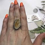 Цитрин 17,7 розмір кільце з цитрином кільце з каменем жовтий цитрин в сріблі Індія, фото 2