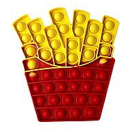 Антистресс - игрушка Pop It Картошка Фри Поп Ит