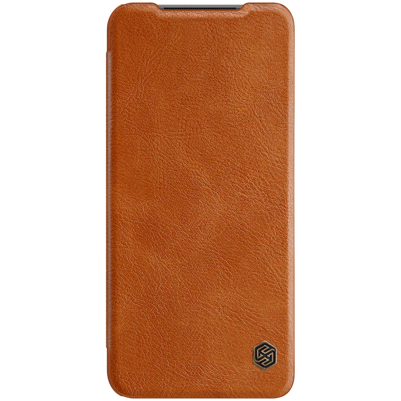 Защитный чехол-книжка Nillkin для Xiaomi Redmi Note 10 4G Qin leather case Brown Коричневый