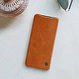 Защитный чехол-книжка Nillkin для Xiaomi Redmi Note 10 4G Qin leather case Brown Коричневый, фото 7