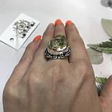 Цитрин 17,8 розмір кільце з цитрином кільце з каменем жовтий цитрин в сріблі Індія, фото 2