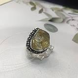 Цитрин 17,8 розмір кільце з цитрином кільце з каменем жовтий цитрин в сріблі Індія, фото 10