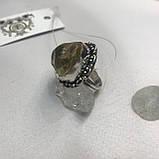 Цитрин 17,8 розмір кільце з цитрином кільце з каменем жовтий цитрин в сріблі Індія, фото 9