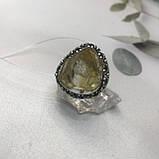 Цитрин 17,8 розмір кільце з цитрином кільце з каменем жовтий цитрин в сріблі Індія, фото 8