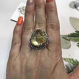 Цитрин 17,8 розмір кільце з цитрином кільце з каменем жовтий цитрин в сріблі Індія, фото 3