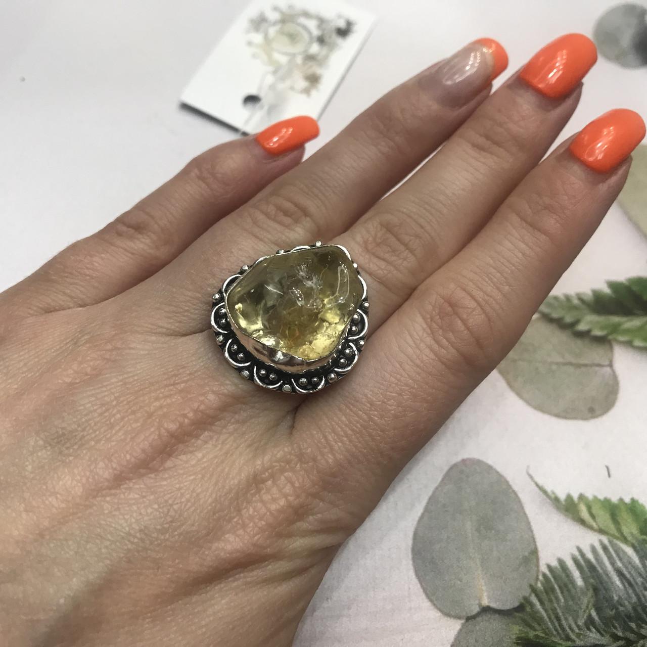 Цитрин 17,8 розмір кільце з цитрином кільце з каменем жовтий цитрин в сріблі Індія
