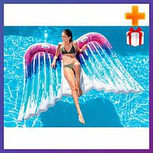 Надувний пліт для катання Intex 58786 Крила ангела 251x160 см + подарунок