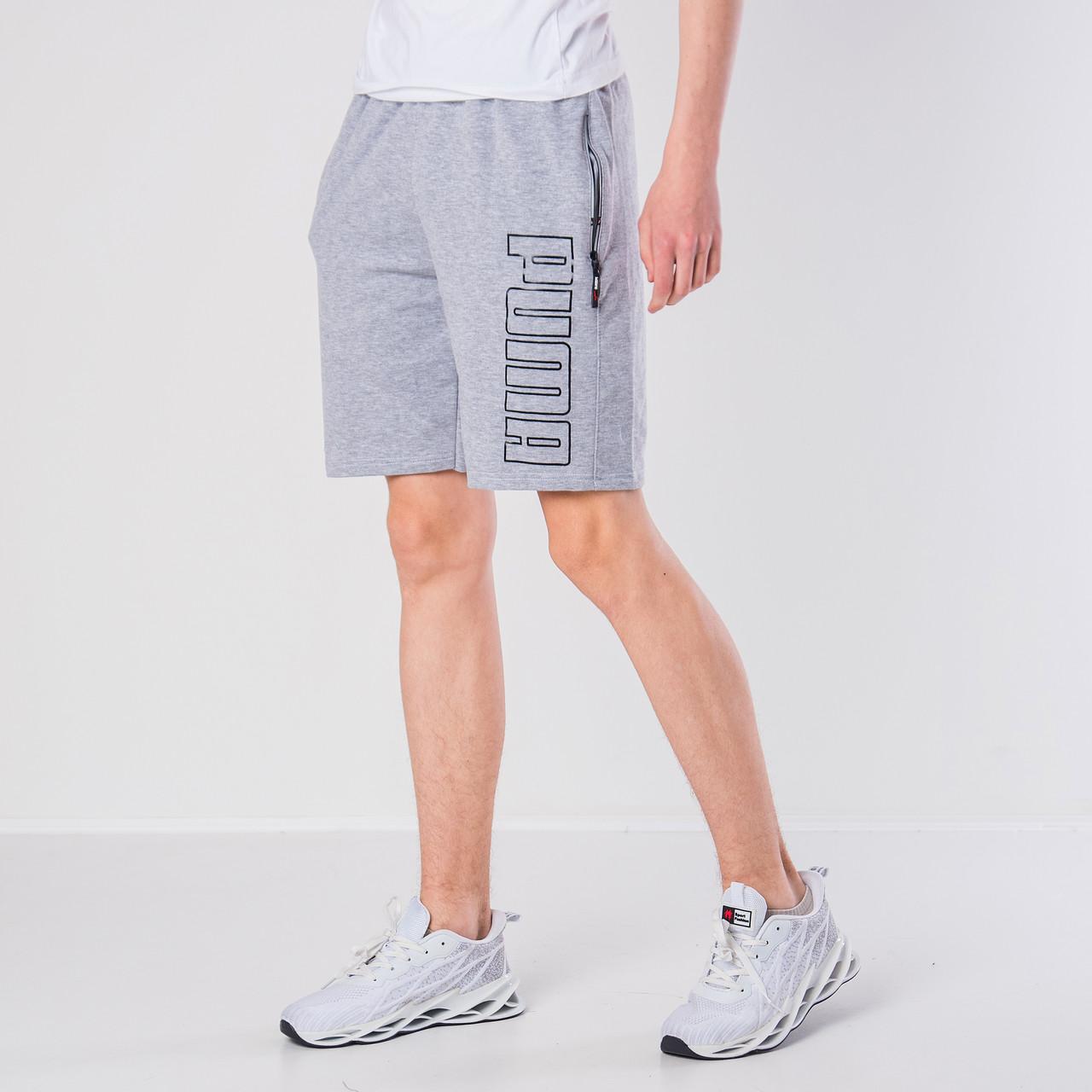 Чоловічі трикотажні шорти Puma, світло-сірого кольору