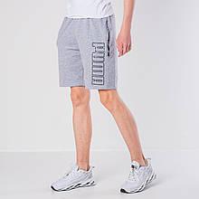 Мужские трикотажные шорты Puma, светло-серого цвета.