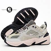Женские кроссовки в стиле Nike M2K Tekno Grey Pink
